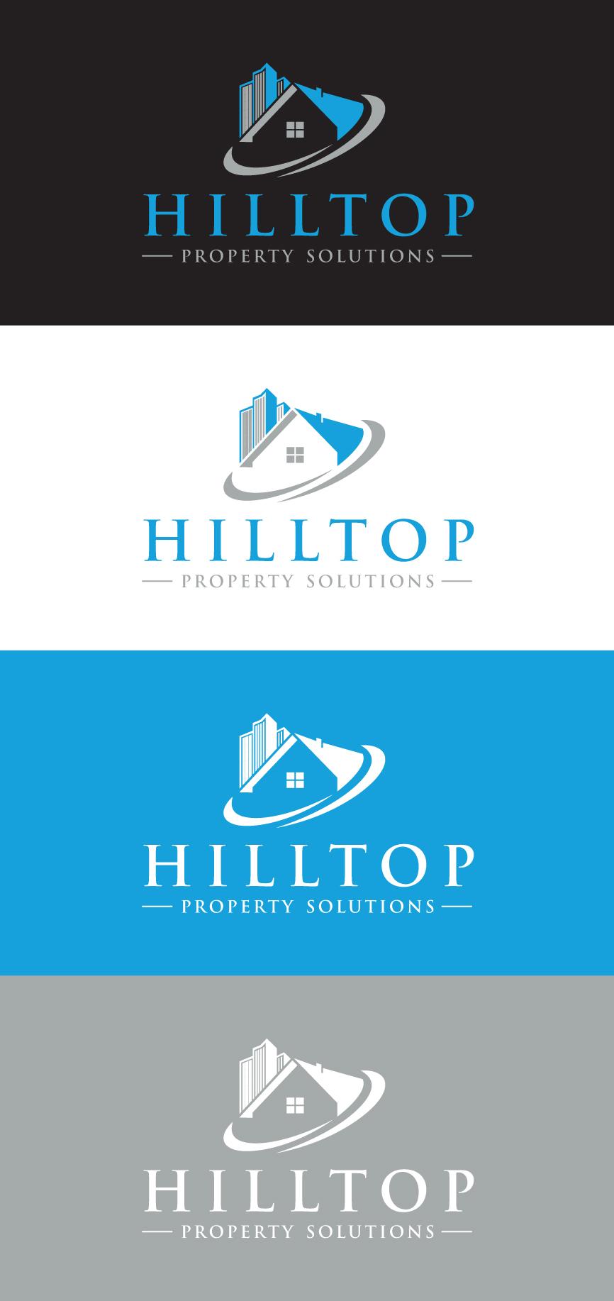 Logo Design by RasYa Muhammad Athaya - Entry No. 71 in the Logo Design Contest Imaginative Logo Design for Hilltop Property Solutions.