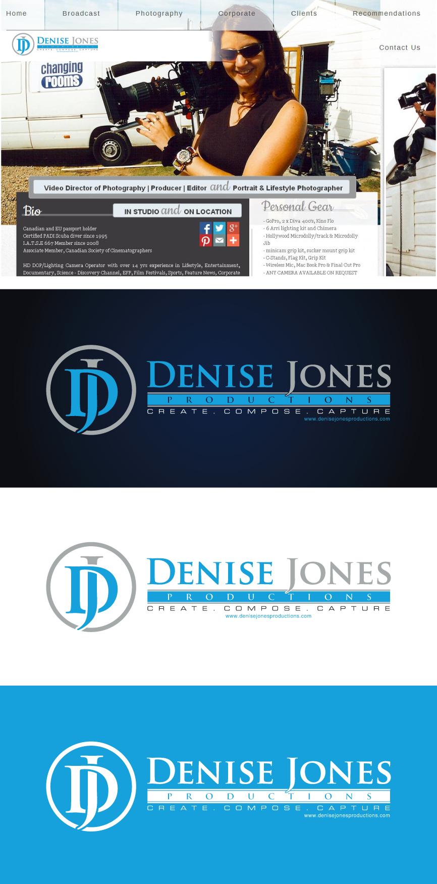 Logo Design by RasYa Muhammad Athaya - Entry No. 23 in the Logo Design Contest Captivating Logo Design for Denise Jones Productions Inc..