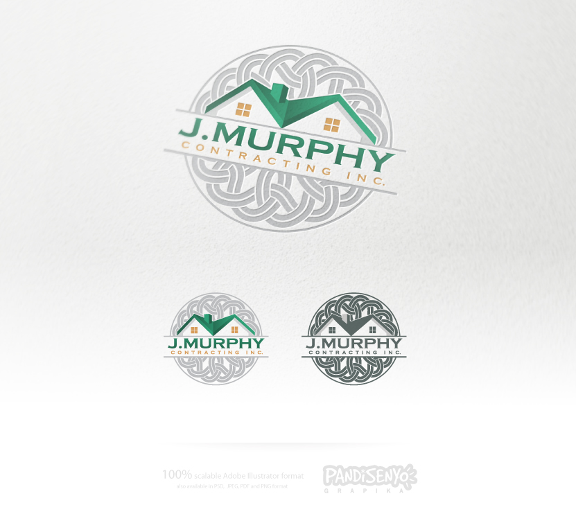 Logo Design by pandisenyo - Entry No. 30 in the Logo Design Contest New Logo Design for J. Murphy's Contracting Inc..
