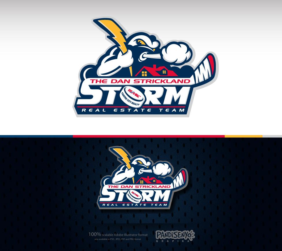 Logo Design by pandisenyo - Entry No. 23 in the Logo Design Contest Fun Logo Design for The Dan Strickland Real Estate Team.