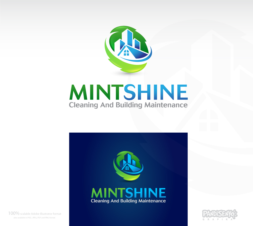 Logo Design by pandisenyo - Entry No. 38 in the Logo Design Contest New Logo Design for mintSHINE cleaning and building maintenance.