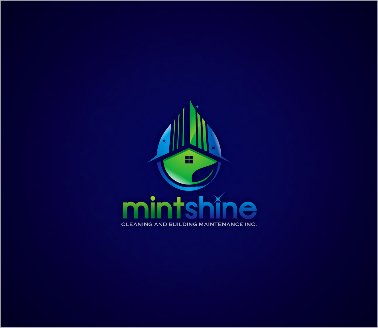 Logo Design by Armada Jamaluddin - Entry No. 47 in the Logo Design Contest New Logo Design for mintSHINE cleaning and building maintenance.