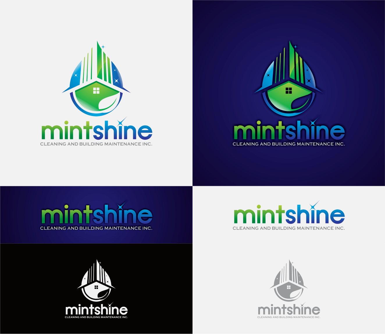 Logo Design by Armada Jamaluddin - Entry No. 53 in the Logo Design Contest New Logo Design for mintSHINE cleaning and building maintenance.