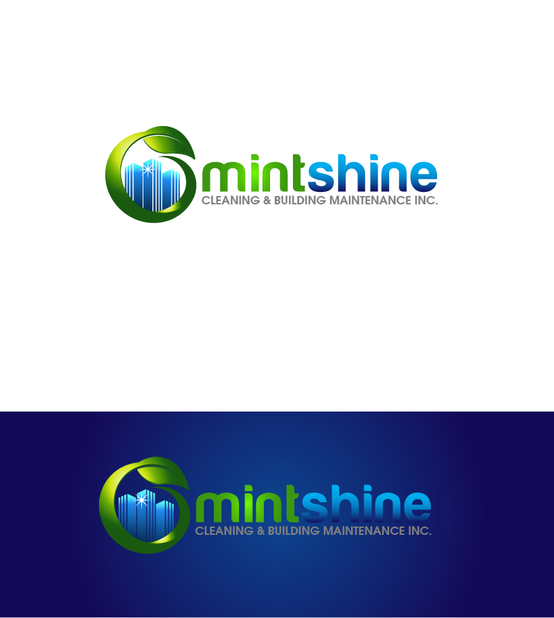 Logo Design by Private User - Entry No. 56 in the Logo Design Contest New Logo Design for mintSHINE cleaning and building maintenance.