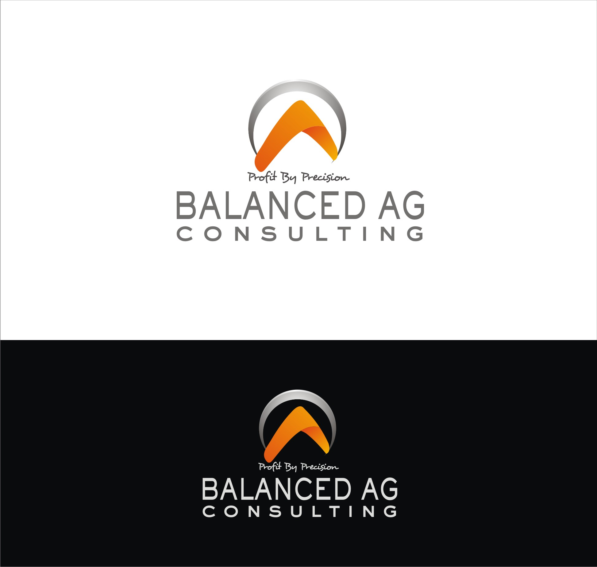Logo Design by Private User - Entry No. 247 in the Logo Design Contest Captivating Logo Design for Balanced Ag Consulting.