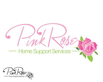 Logo Design by peg770 - Entry No. 154 in the Logo Design Contest Pink Rose Home Support Services.