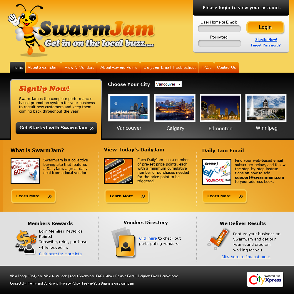 Web Page Design by Private User - Entry No. 9 in the Web Page Design Contest SwarmJam.com website facelift.
