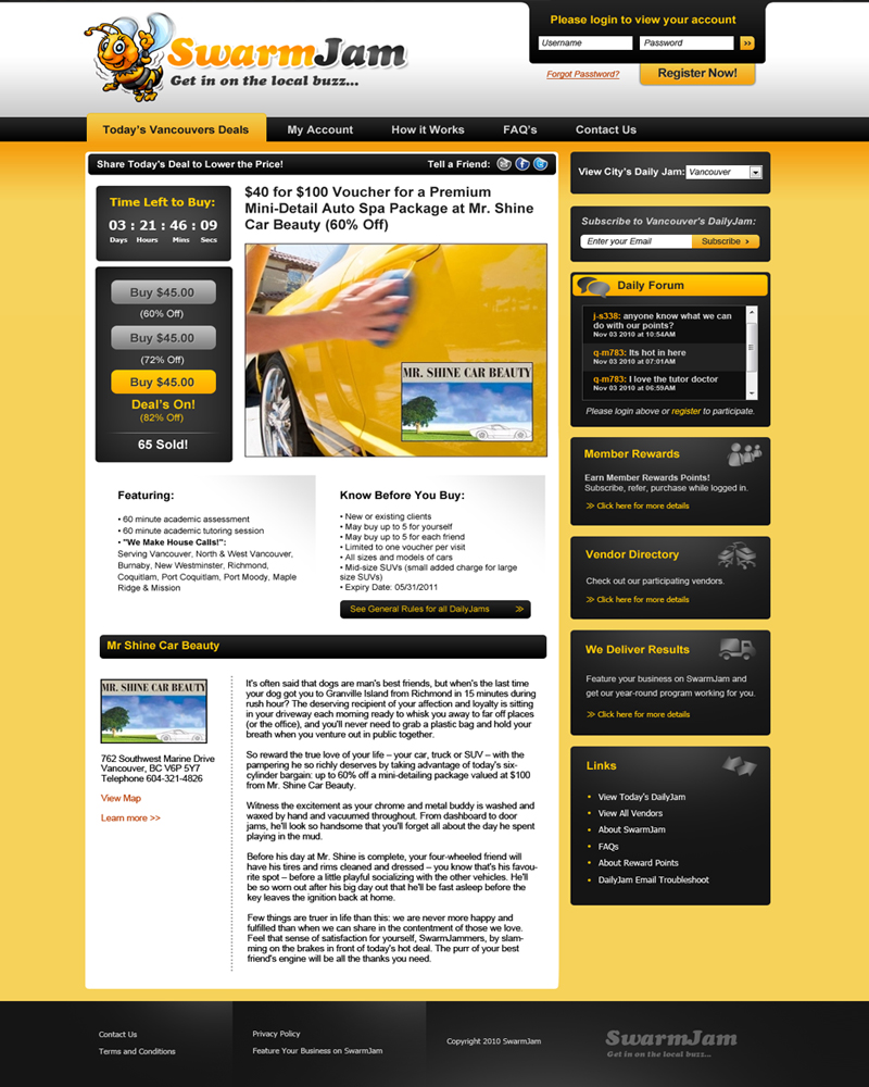 Web Page Design by Private User - Entry No. 21 in the Web Page Design Contest SwarmJam.com website facelift.