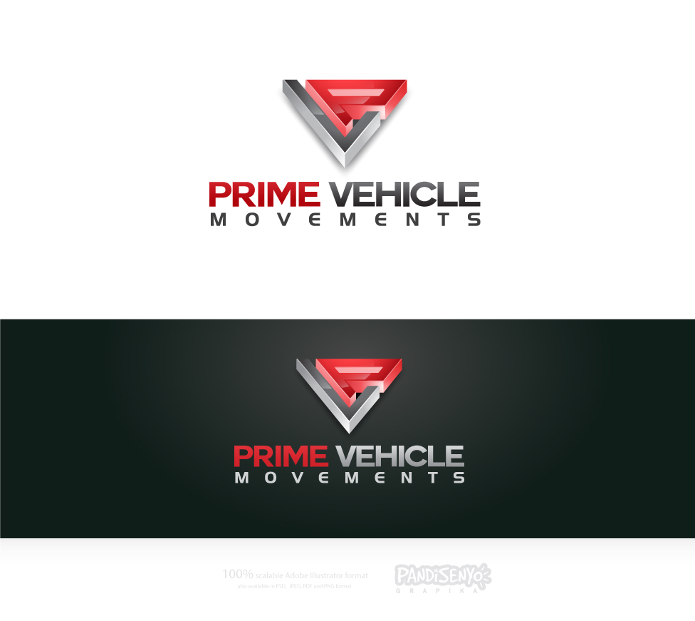Logo Design by pandisenyo - Entry No. 21 in the Logo Design Contest Captivating Logo Design for prime vehicle movements.