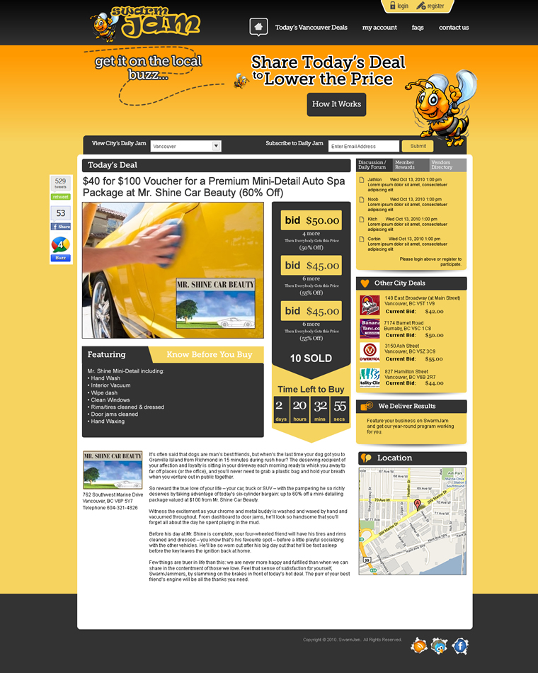 Web Page Design by Alf Catadman - Entry No. 30 in the Web Page Design Contest SwarmJam.com website facelift.