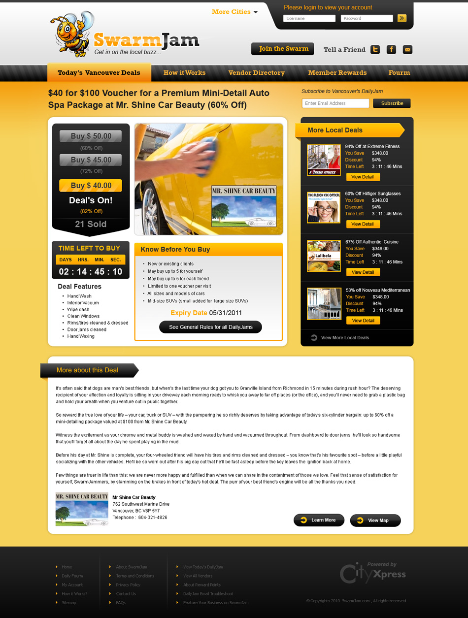 Web Page Design by Emad A Zyed - Entry No. 36 in the Web Page Design Contest SwarmJam.com website facelift.