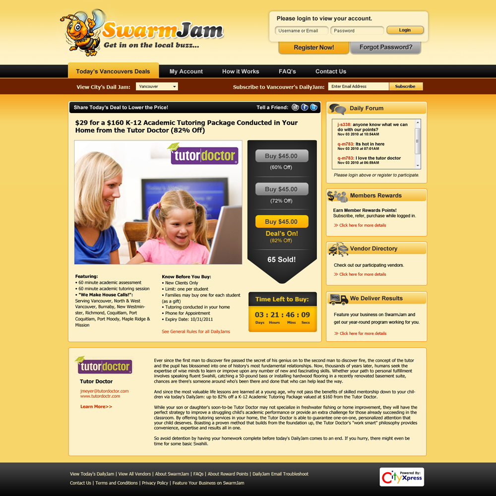 Web Page Design by Private User - Entry No. 40 in the Web Page Design Contest SwarmJam.com website facelift.