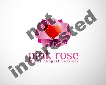 Logo Design by dapc79 - Entry No. 20 in the Logo Design Contest Pink Rose Home Support Services.