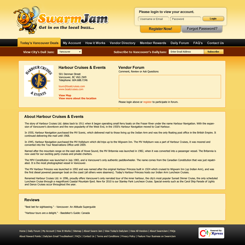Web Page Design by Private User - Entry No. 58 in the Web Page Design Contest SwarmJam.com website facelift.