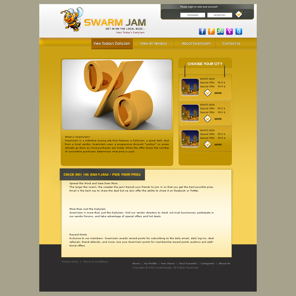 Web Page Design by aesthetic-art - Entry No. 59 in the Web Page Design Contest SwarmJam.com website facelift.