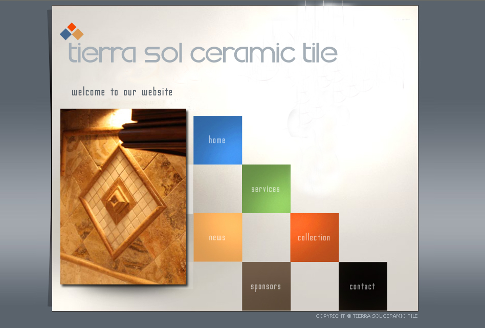 Web Page Design by tsyrette - Entry No. 1 in the Web Page Design Contest Tierra Sol Ceramic Tile - Web Site.