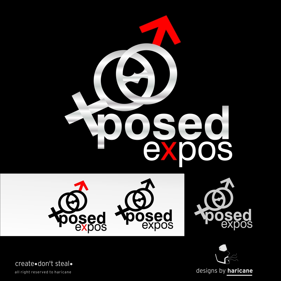 Logo Design by haricane - Entry No. 1 in the Logo Design Contest Xposed Romance, Sexuality & Adult Lifestyle Expo.