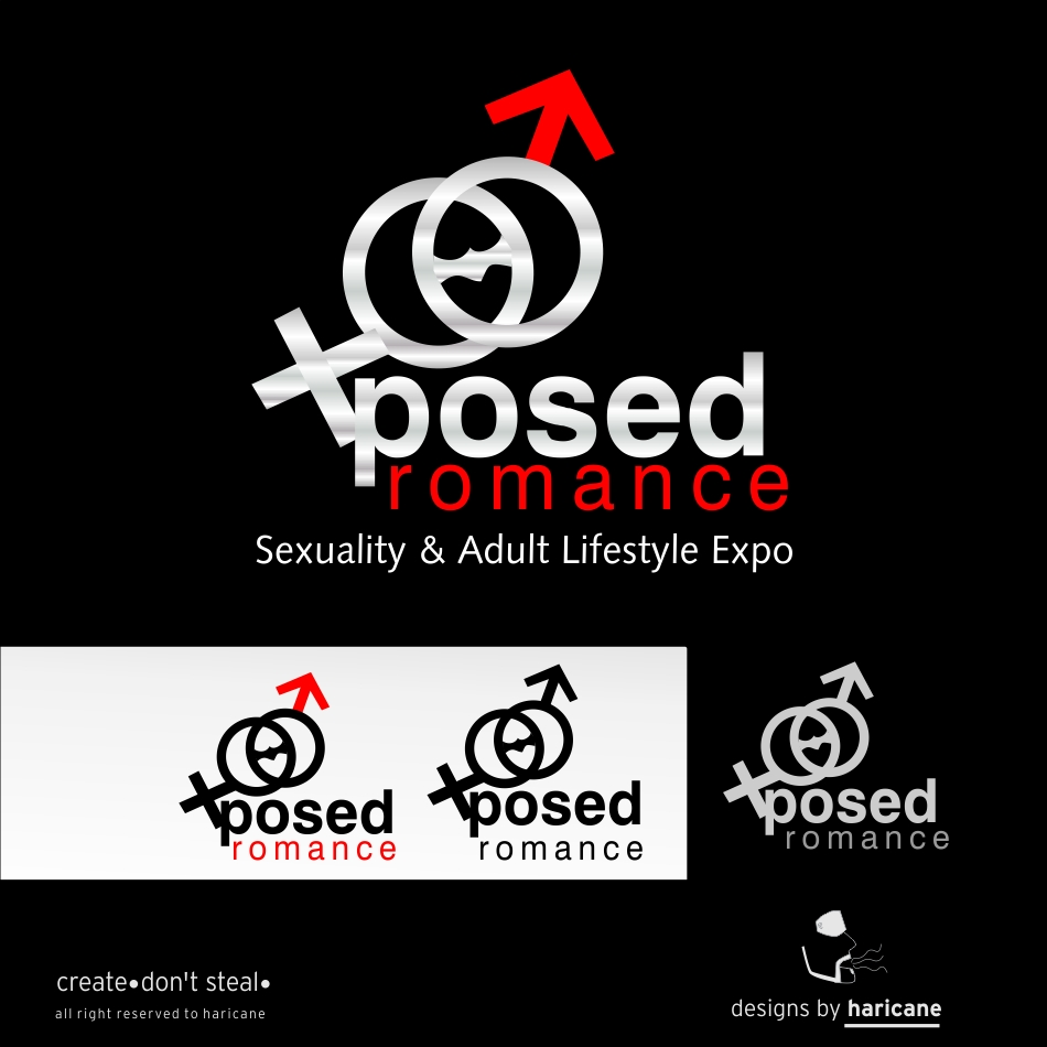 Logo Design by haricane - Entry No. 5 in the Logo Design Contest Xposed Romance, Sexuality & Adult Lifestyle Expo.