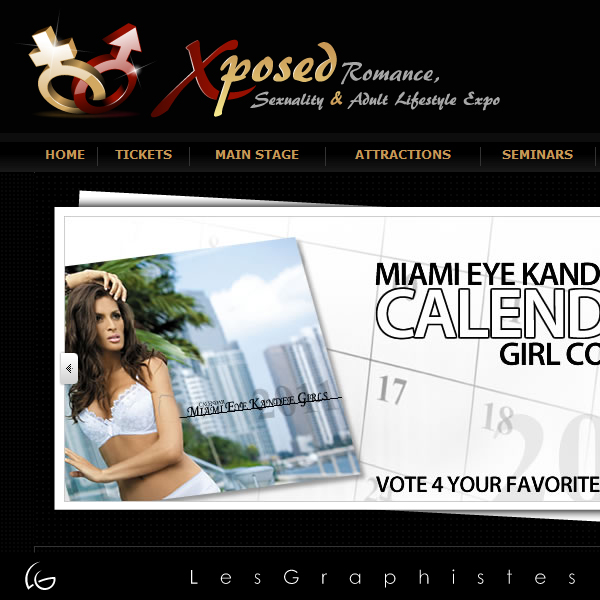 Logo Design by Les-Graphistes - Entry No. 12 in the Logo Design Contest Xposed Romance, Sexuality & Adult Lifestyle Expo.