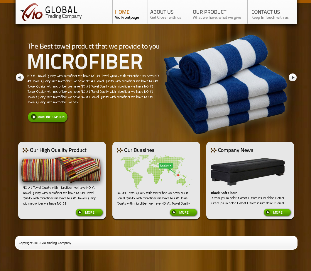 Web Page Design by Arie  Prasetyo - Entry No. 6 in the Web Page Design Contest vioglobaltrading.com.
