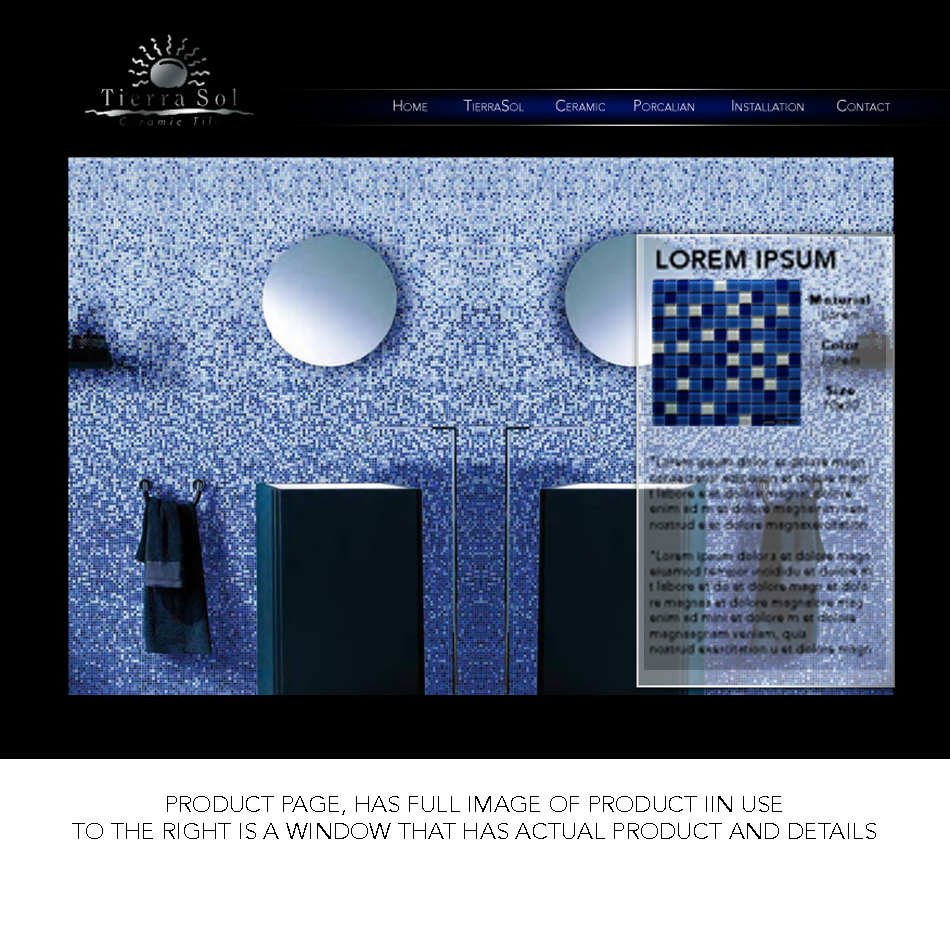 Web Page Design by keekee360 - Entry No. 14 in the Web Page Design Contest Tierra Sol Ceramic Tile - Web Site.