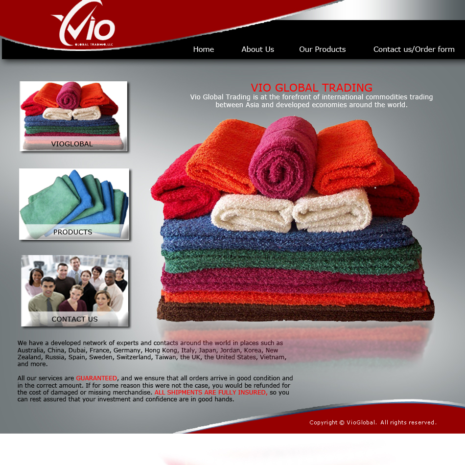 Web Page Design by keekee360 - Entry No. 16 in the Web Page Design Contest vioglobaltrading.com.