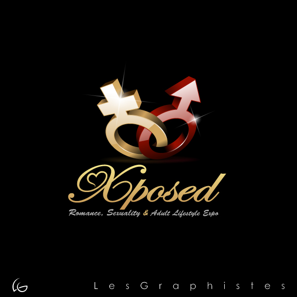 Logo Design by Les-Graphistes - Entry No. 33 in the Logo Design Contest Xposed Romance, Sexuality & Adult Lifestyle Expo.