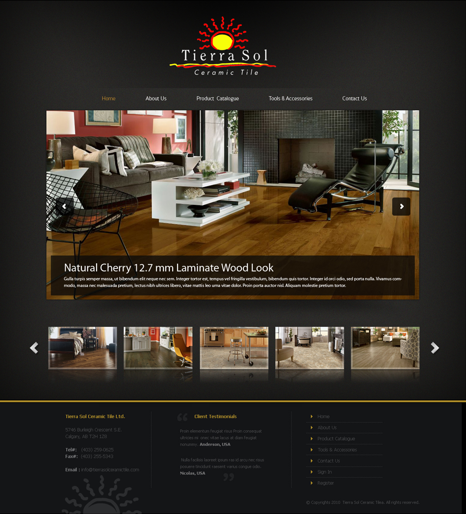 Exceptional Web Page Design By Emad A Zyed   Entry No. 18 In The Web Page
