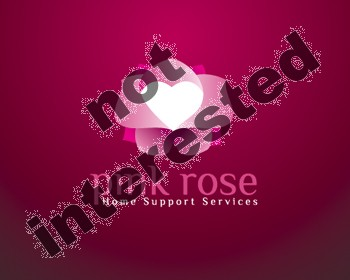 Logo Design by dapc79 - Entry No. 21 in the Logo Design Contest Pink Rose Home Support Services.