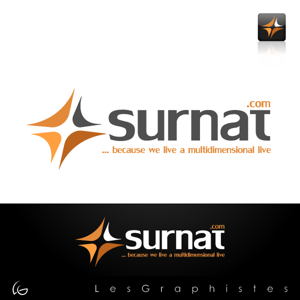 Logo Design by Les-Graphistes - Entry No. 38 in the Logo Design Contest Surnat.com.