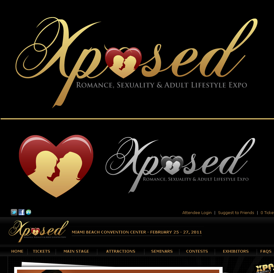 Logo Design by an31th - Entry No. 61 in the Logo Design Contest Xposed Romance, Sexuality & Adult Lifestyle Expo.
