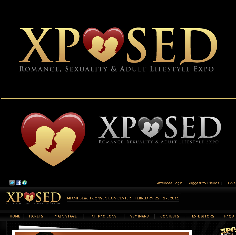 Logo Design by an31th - Entry No. 62 in the Logo Design Contest Xposed Romance, Sexuality & Adult Lifestyle Expo.