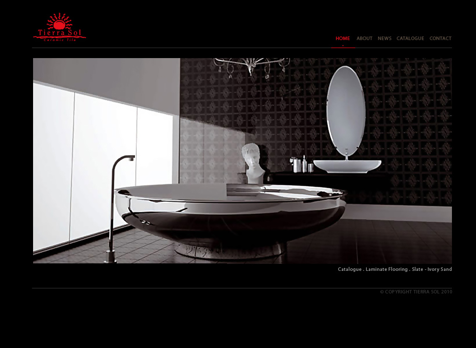 Web Page Design by tianstudio - Entry No. 37 in the Web Page Design Contest Tierra Sol Ceramic Tile - Web Site.