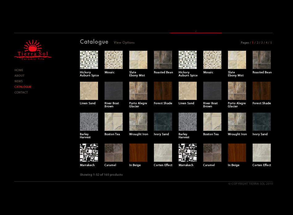 Web Page Design by tianstudio - Entry No. 40 in the Web Page Design Contest Tierra Sol Ceramic Tile - Web Site.