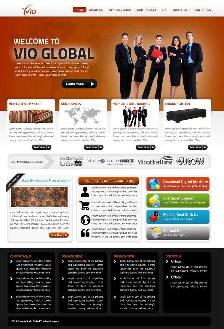 Web Page Design by Arie  Prasetyo - Entry No. 38 in the Web Page Design Contest vioglobaltrading.com.