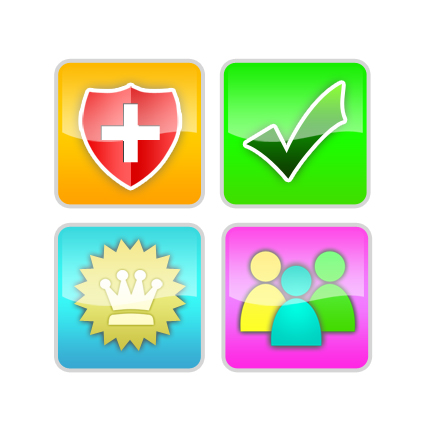 Button & Icon Design by zheero - Entry No. 7 in the Button & Icon Design Contest Set of 4 Values Icons.