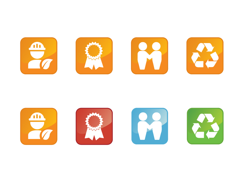 Button & Icon Design by maria_theo9 - Entry No. 8 in the Button & Icon Design Contest Set of 4 Values Icons.