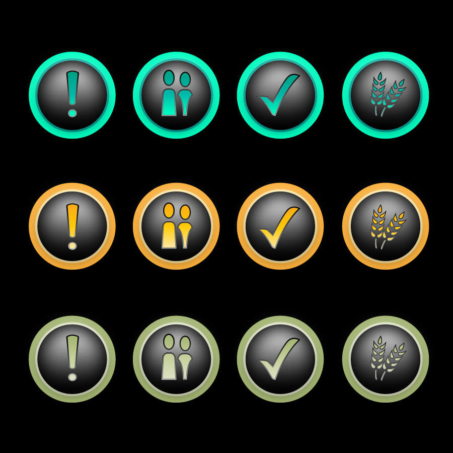 Button & Icon Design by trav - Entry No. 19 in the Button & Icon Design Contest Set of 4 Values Icons.