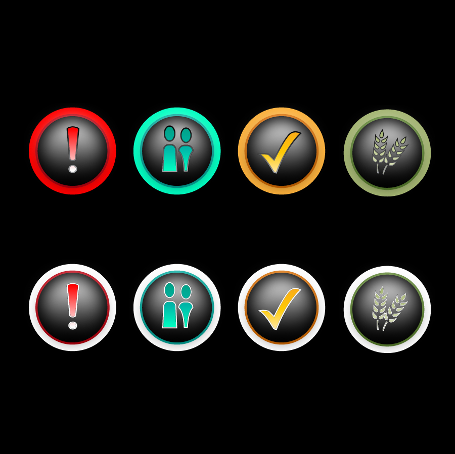 Button & Icon Design by trav - Entry No. 20 in the Button & Icon Design Contest Set of 4 Values Icons.