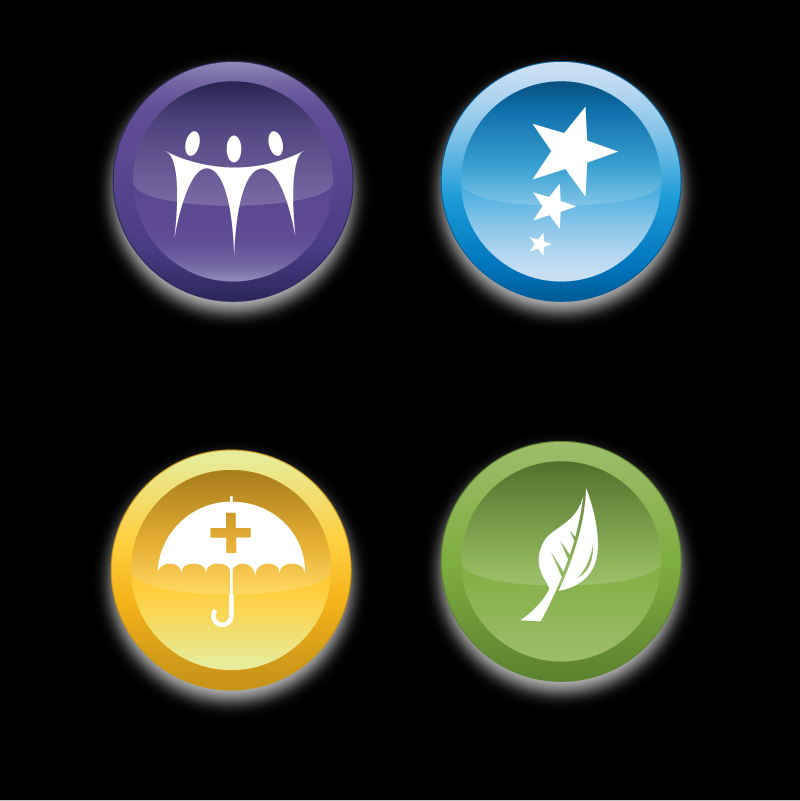 Button & Icon Design by trav - Entry No. 27 in the Button & Icon Design Contest Set of 4 Values Icons.
