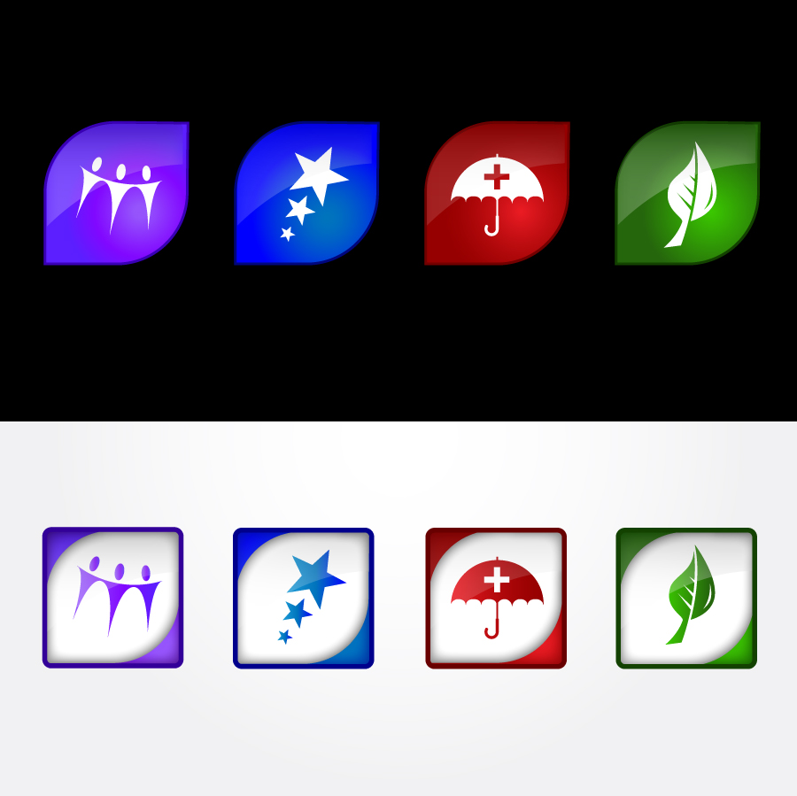 Button & Icon Design by trav - Entry No. 60 in the Button & Icon Design Contest Set of 4 Values Icons.