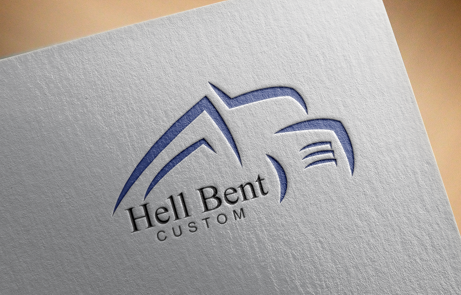 Logo Design by Shahnawaz Ahmed - Entry No. 2 in the Logo Design Contest Unique Logo Design Wanted for Hell Bent Custom.