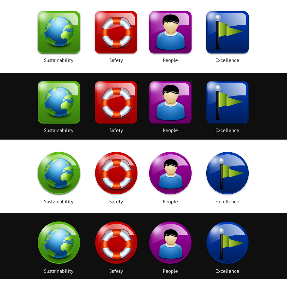 Button & Icon Design by johngabriel - Entry No. 67 in the Button & Icon Design Contest Set of 4 Values Icons.