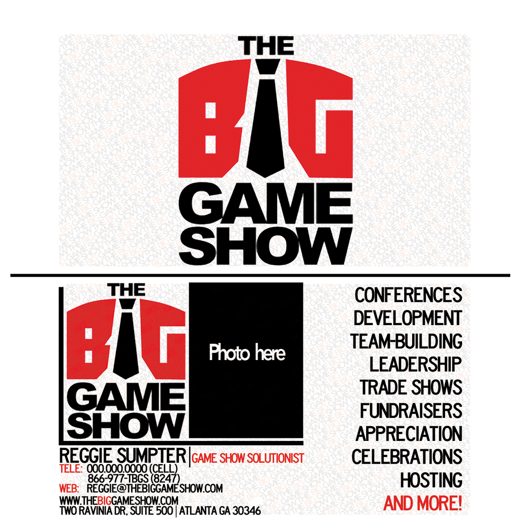 Business Card Design by bambino - Entry No. 1 in the Business Card Design Contest The Big Game Show business cards.