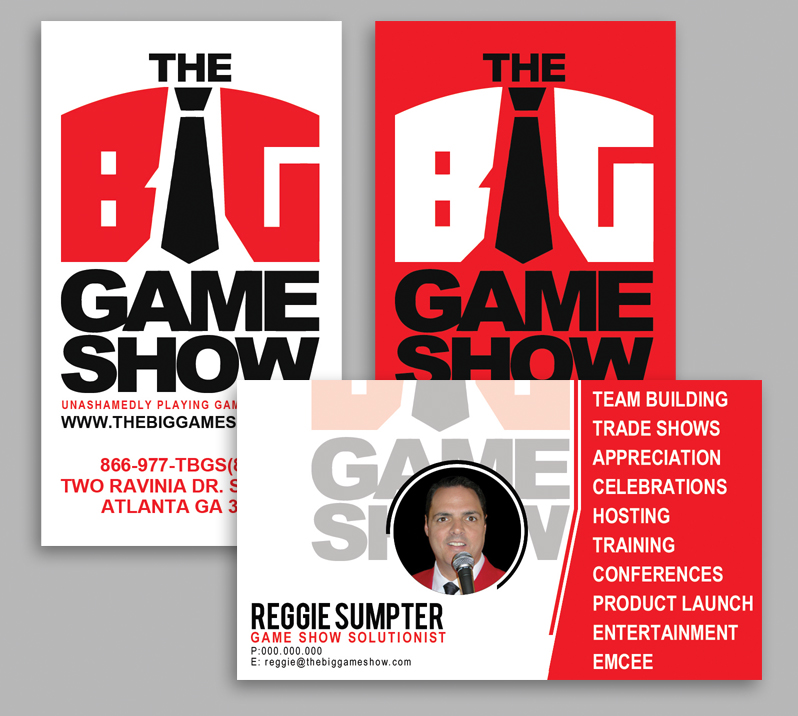 Business Card Design by JuanPilar - Entry No. 2 in the Business Card Design Contest The Big Game Show business cards.