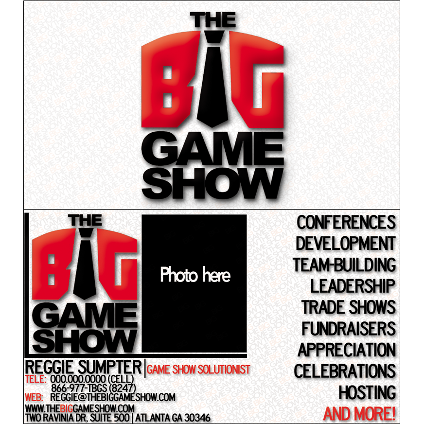Business Card Design by bambino - Entry No. 3 in the Business Card Design Contest The Big Game Show business cards.