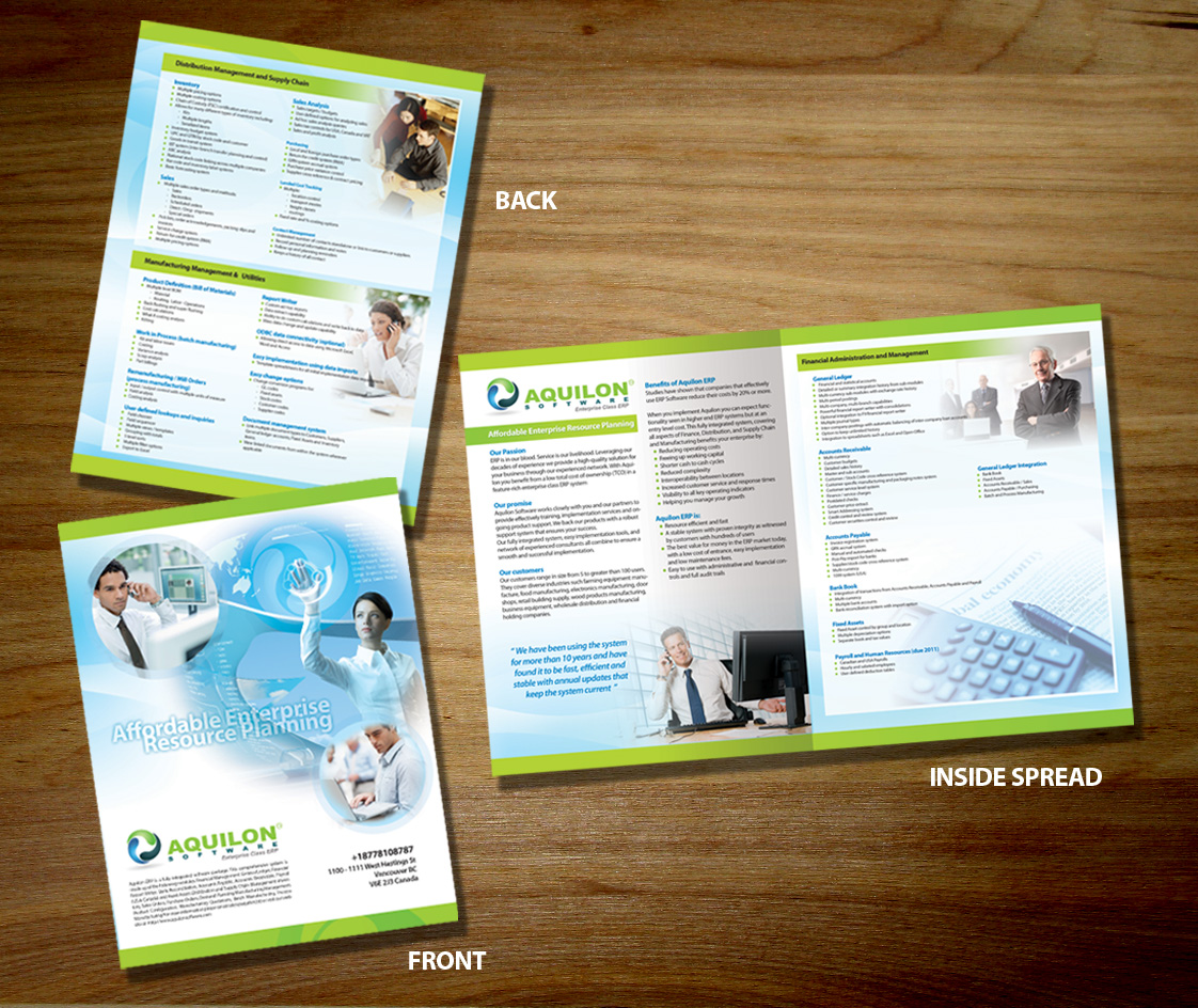 Print Design by SAKTI - Entry No. 15 in the Print Design Contest Aquilon Software brochure.
