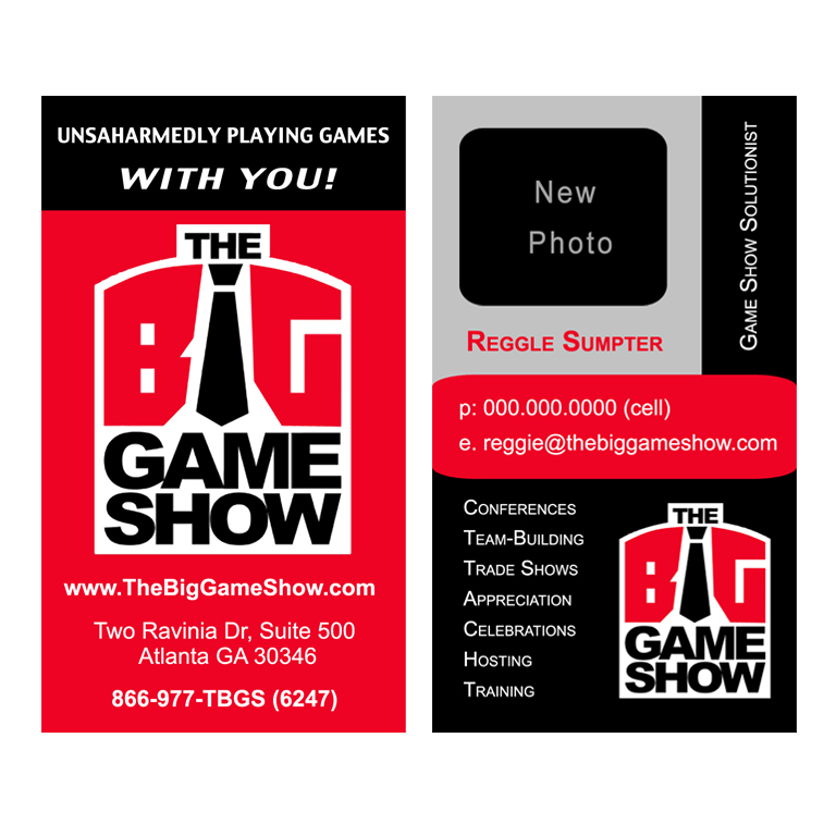 Business Card Design by double-take - Entry No. 8 in the Business Card Design Contest The Big Game Show business cards.