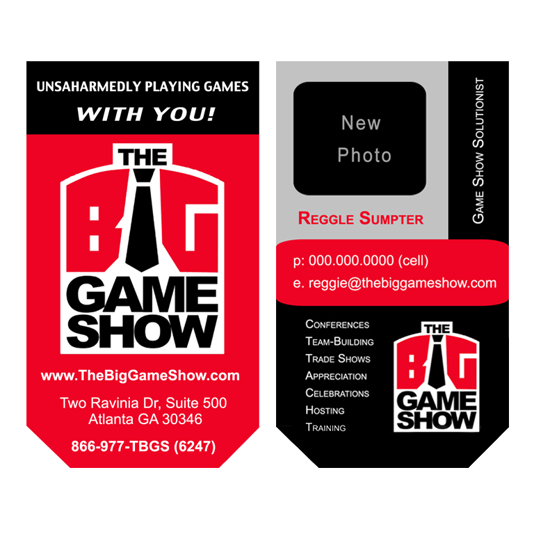 Business Card Design by double-take - Entry No. 9 in the Business Card Design Contest The Big Game Show business cards.