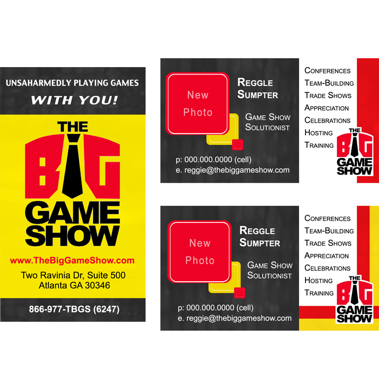 Business Card Design by double-take - Entry No. 11 in the Business Card Design Contest The Big Game Show business cards.
